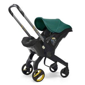 Kinderwagen 3 in 1 mit Autositz Tragbare Reise Babywagen Klappwagen Aluminiumrahmen Hohe Landschaftsauto für Neugeborene