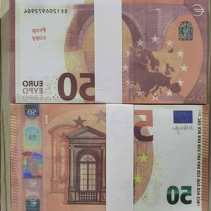 Currency Euro Faux Money Copy Billet Prop Holiday Children Party Banknote Presents Toys Stage Trick 50 Festival Wholesale Ijmpe