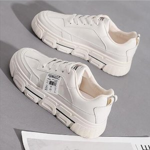 Fashionable white shoes are on sale this year,women's casua , thick-sold large size sports shoes