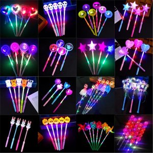 Christmas toy LED flashing light up sticks glowing rose star heart magic wands party night activities Concert carnivals Props kids toys