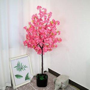 180cm altura home decor flor de cereja árvore aritificial flor de potting planta falsa ornamento para decorações de casamento de Natal