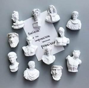 Fridge Magnets Nordic Artist Magnet Creative 3D Resin David Human Head Portrait Refrigerators Stickers Magnetic Christmas Home Decor