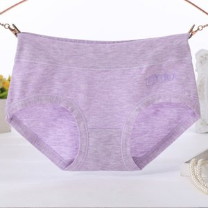 Panties cotton Color sweat suing, breathable and qui drying women's briefs middle waist Bird Print girls' underwear new