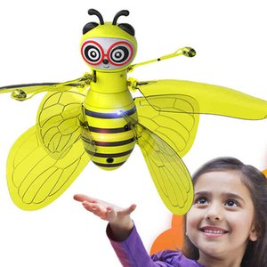 Mini Drone Induction a mano Bee UFO Juguetes para niños Bee Drones Regalos RC Helicóptero Quadrocopter Drone Induction Fairy Flying Ball 210325