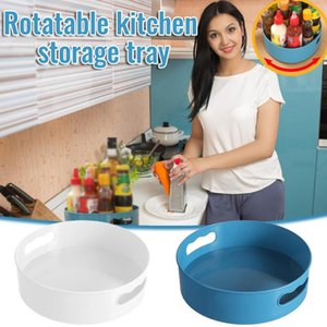 Toothbrush Holders IN STOCK Multifunctional Bathroom Rotatable Kitchen Storage Tray Box With Handle Durable