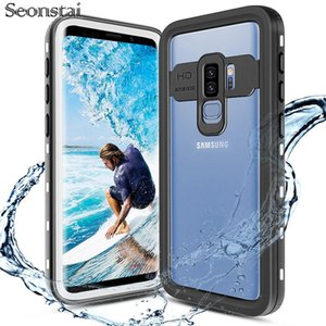 For Samsung S8 S9 Plus Outdoor Summer Swimming Shockproof IP68 Waterproof Case Galaxy Note 9 10 Cover Cell Phone Pouches