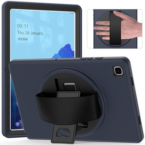 Lightweight Full Body Protective Silicone Case for Samsung Galaxy Tab A7 T500 T505 Tablet Shockproof Cover with Hand Strap+Pen