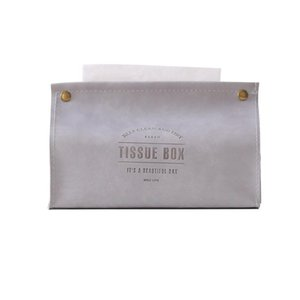 Tissue Boxes & Napkins Container Towel Napkin Holder Ins Nordic Leather Box Paper Dispenser Case For Office Home Decorati