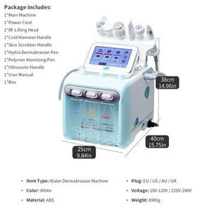Factory 6 IN1 Hydra Dermabrasion Machine H2O2 Small Bubble Peeling Cleansing Facial Care Beauty Equipment