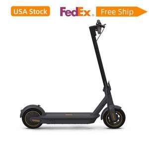 Magazzino USA 2021 Ninebot Kick Scooter max di Segway Pieghevole Elettrico KickScooter 40 Miles Rangivex Velocità 18,6 mph Fast Charging Battery Cars