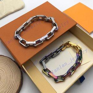 Дизайнерская цепь бамбуковая гашение двойной мужской и женской браслеты классический шаблон 20см с коробкой L-08
