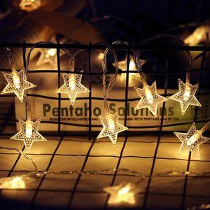 Star LED String Lights Fairy Garland Warm White For Year Christmas Wedding Ramadan Home Decoration Women's Gift Strings