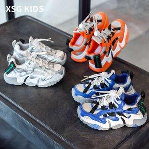 Sapatilhas Primavera 2021 Meninos Esportes Nova Moda Coreana Padre Children Sho