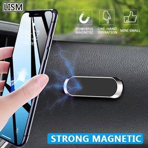 마그네틱 자동차 전화 홀더 대시 보드 미니 스트립 모양 스탠드 아이폰 삼성 Xiaomi 금속 자석 GPS 마운트 벽