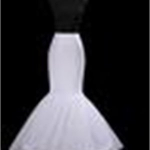 Big Discount!! General Size White Mermaid petticoat Bridal Petticoat Accessories Slim Crinoline Bridal Accessories Underskirt for Wedding