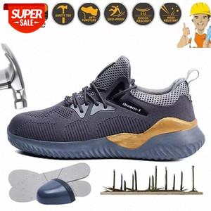 Неразрушимая стальная носящая мужская обувь мужская рабочая обувь светлый уютный антисеместный анти пирсинг открытый строительный человек безопасности сапоги # BD85