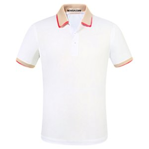 2021 Mens Stylist Polo Camisetas Luxo Itália Masculino Designer Roupas de Manga Curta Moda Casual Homens Camiseta Tamanho M-3XL