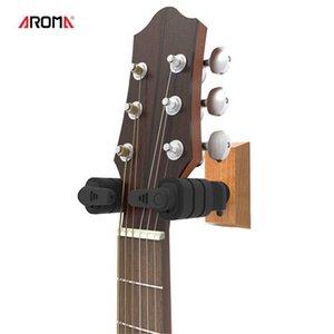 Factory Outlet Self-locking Guitar Hook Bracket Musical Instrument Wall Mount Wall Hanging Shelf Groove Board Hook Wooden Base Hook
