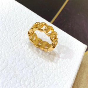 Fashion gold letter love rings bague for lady women Party wedding lovers gift engagement jewelry With red BOX