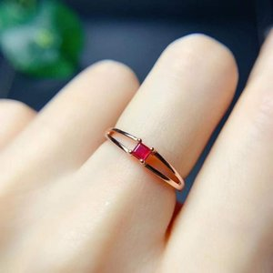 Cluster Rings Natural And Real Ruby Ring Silver 925 For Charm Luxury Designer Finger Women Fine Jewelry