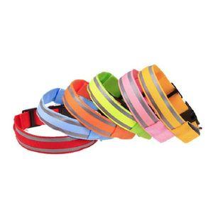 Colorful Pet Dogs Collars 4Sizes Night Safety LED Light Glow Nylon Small Medium Leash Dog Collar Flashing Safe 6 H1