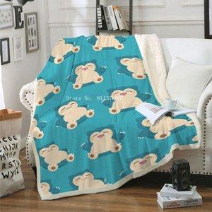 Sheets & Sets 3D Cartoon Blanket Sherpa Fleece Bedspread Vintage Bedding Square Picnic Wool Soft Home Office El Nap Sheet
