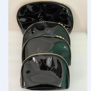 Women snowflake famous brand 4pcs set vanity cosmetic case luxury makeup organizer bag toiletry clutch pouch boutique