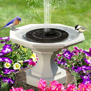 Solar Fountain Round Water Source Home Decor Upgraded Leaf Fountains Garden Decoration Pond Swimming Pool Bird Bath Floating Waterfall