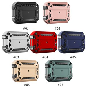 Military-grade Shockproof Protective Case for Airpods Pro 3 Heavy Duty Anti-fall Earphone Fundas Cover 7 Colors By DHL