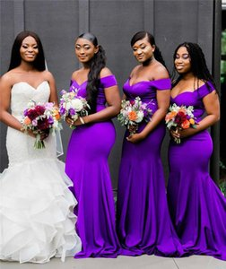 South African Purple Bridesmaid Dresses Summer Country Garden Wedding Party Guest Maid of Honor Gowns Custom Made Gown Evening Prom Dress