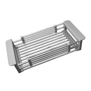 تنظيم تخزين المطبخ قابل للسحب استنزاف الرف بالوعة سلة المياه القابلة للتوسيع عميق طبق كبير تجفيف الصدأ الفولاذ المقاوم للصدأ