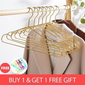 Hangers & Racks Clothes Hanger 10pcs Non-Slip Skirt Coat Drying Wardrobe Clothing Storage Sapce Save Organizer Metal Drop