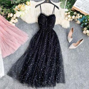 Party Dresses Sweet Memory 2021 Summer Beach Black Pink Blue White Cocktail Lady Lace Mesh Vestidos Elegant Women Dress