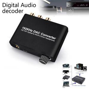 1 unids 1080p -Compatible óptico SPDIF RCA AUTÍO AUDIO AUDIO DE AUDIO CONVISTADOR SPAPTOR DE DISTRIBUJO L / R 2 CANAL 5.1 Cámara inalámbrica envolvente Kit KIT