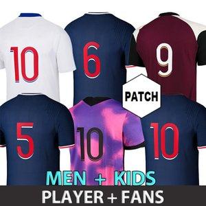 لاعب نسخة لكرة القدم جيرسي PSGJERSEY MBAPPE MAILLOTS دي كرة القدم 20 21 Draxler Herrera Sarabia Icardi Shirt Men Kids 4th Gana Kean Marquinhos