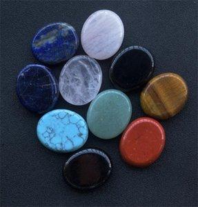 Factory Home Decor Thumb Worry Stone, Stress Relax Healing Reiki Crystal Pocket Palm Stones,Black Obsidian and Rose Quartz