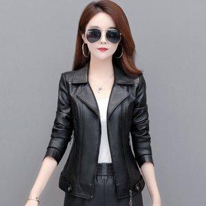 021 Leather Jacket Women Fashion Plus Size 5XL Motorcycle Coat Short Faux Leather Biker Jacket Soft Jacket Female Suede
