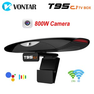 VONTAR T95C1 2GB 16GB 800W pixel Camera TV BOX Android 9.0 Smart TVBOX 2.4&5G Wifi 100M Support 1080P 4K Youtube Media Player