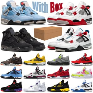 retro 2020 fire red 4 4s jumpman men women shoes cactus jack noir black cat university blue guava ice mens womens trainers sports sneakers