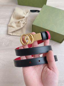 2021 cinturón 2 cm hombres mujeres cinturones pares de cuero genuino dorado negro hebilla lisa con tarjetas de caja naranja bolsa de polvo regalo de cinta A026