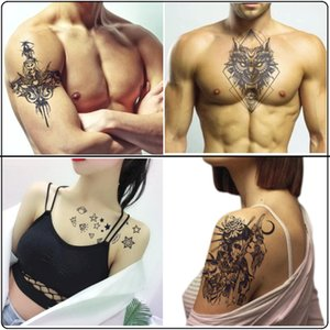 TS003 Sexy Clavicle Black Plant Tattoos Stickers waterproof for kids Women Girls Body Arm Adhesive Tattoo sticker Temporary