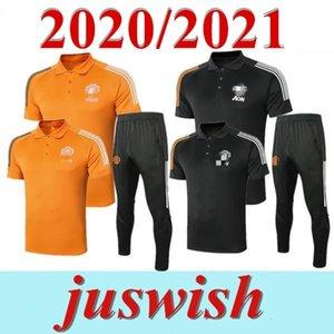 2020 Manchester Polo Manga Curta Camisa Calças United Pogba Futebol Formação Terno 2021 Rashford Lukaku Homem Futebol Polo Camiseta Tracksuit