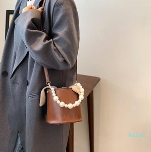 Evening Bags 2021 Fashion One-shoulder Messenger Bag Western Style Pearl Portable Bucket Casual Personality Design Small Female