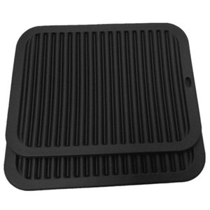 Table Runner Black Silicone Large Thick Wavy Insulation Mat Anti-Skid Anti-Scalding Pad Cup Coasters Pan Saucer Tableware