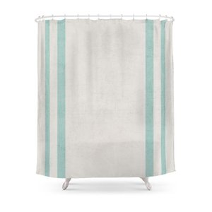 Shower Curtains French Linen Robins Egg Blue Curtain Frabic Waterproof Polyester Bathroom Wall Decoration Hanging Bath
