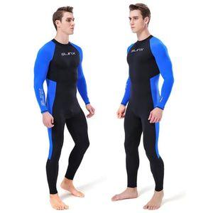 Hommes Scuba wetsuit plongée hiver weekuits chauds costume baignade surf surfer sourde à manches longues avec équipement de coiffure unique One-pièce sui