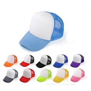 Kids Trucker Cap Adult Mesh Caps Blank Trucker Hats Snapback Hats kid Size 52-55cm Adult Size 56-60cm Acept Custom Made