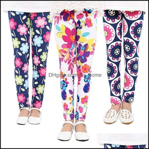 Tights Clothing Baby, & Maternity Spring Kids Children Flower Printed Toddler Floral Leggins Pants Girls Legging Baby Girl Leggings Drop Del