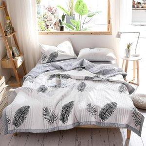 Удобные устанавливает постельное белье Лето Мытье Хлопковое одеяло Тонкая Утешитель Одеяло Односпальная двуспальная кровать Состояние воздуха для детей Взрослый
