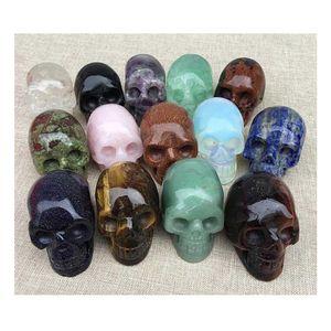 artisanat de pierre artisanat artisanat crâne décor d'halloween accessoires roman sculpture crâne crâne pierre andarra obsidienne hh store
